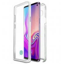 Tвърд гръб 360° със силиконова част за Huawei Y5p - прозрачен лице и гръб