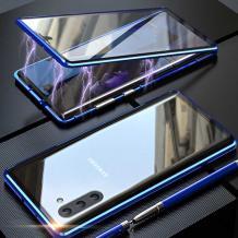Магнитен калъф Bumper Case 360° FULL за Samsung Galaxy Note 10 N970 - прозрачен / синя рамка
