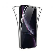 Силиконов калъф / гръб / TPU 360° за Huawei P Smart Z / Y9 Prime 2019 - прозрачен / 2 части / лице и гръб