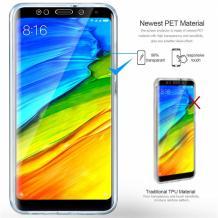 Силиконов калъф / гръб / TPU 360° за Xiaomi Pocophone F1 - прозрачен / 2 части / лице и гръб