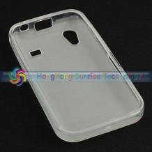 Силиконов калъф ТПУ за Samsung Galaxy Ace S5830 - White / бял / матиран
