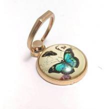 Универсална стойка за телефон - пръстен / кръгла плочка с пеперуда
