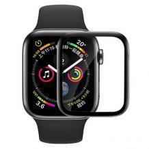 3D full PMMA glass Full Glue screen protector Apple Watch Series 40mm / Стъклен скрийн протектор с лепило от вътрешната страна за Apple Watch Series - черен