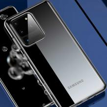 Луксозен силиконов гръб USAMS Janz Series за Samsung Galaxy S20 Ultra - прозрачен