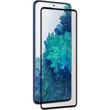 3D full cover Tempered glass Full Glue screen protector Huawei P Smart 2021 / Извит стъклен скрийн протектор с лепило от вътрешната страна за Huawei P Smart 2021 - черен