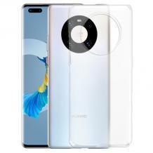 Силиконов калъф / гръб / TPU NORDIC Jelly Case за Huawei Mate 40 Pro - прозрачен