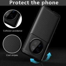 Луксозен силиконов калъф / гръб / TPU Auto Focus за Huawei Mate 40 Pro - черен / Carbon