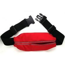 Универсален спортен калъф за кръста за смартфони с дисплей до 6.3 инча - червен