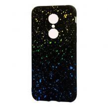 Луксозен силиконов калъф / гръб / TPU за Xiaomi Redmi 5 Plus - метеор / жълто със синьо