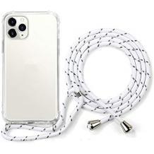 Удароустойчив силиконов калъф / гръб / TPU с връзка за Huawei P40 Lite - прозрачен / бяла връзка