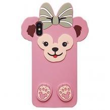 Силиконов калъф / гръб / TPU 3D за Apple iPhone 11 6.1'' - Cartoon Duffy Bear / розов