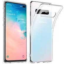 Луксозен силиконов калъф / гръб / ТПУ X-level за Samsung Galaxy S10 - прозрачен