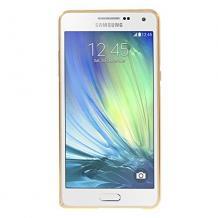 Метален бъмпер / Bumper за Samsung Galaxy E5 / Samsung E5 - златен