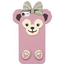 Силиконов калъф / гръб / TPU 3D за Apple iPhone 6 / iPhone 7 / iPhone 8 / iPhone SE2 2020 - Cartoon Duffy Bear / розов