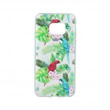 Силиконов калъф / гръб / TPU за Samsung Galaxy S7 G930 - цветен / папагал