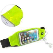 Универсален спортен калъф за кръста за смартфони с дисплей до 6.3 инча - зелен