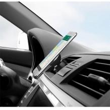 Магнитна универсална стойка за кола Air Vent - черна със синьо