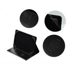 """Универсален кожен калъф BLUN със стойка за таблет 7"""" - черен"""