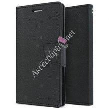 Кожен калъф Flip тефтер Mercury GOOSPERY Fancy Diary със стойка за Lenovo A369 - черен