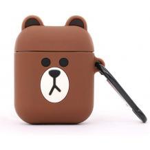 Силиконов калъф за AirPod - Brown Bear