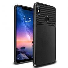 Силиконов калъф / гръб / TPU Hybrid за Xiaomi Redmi Note 5 / Note 5 Pro - черен / Ferilinso Carbon