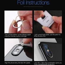Стъклен протектор TOTU Design с рамка / 9H Magic Glass Real Tempered Glass Camera Lens TOTU Design / за камера на Apple iPhone X / iPhone XS - прозрачен / сребриста рамка