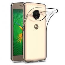 Ултра тънък силиконов калъф / гръб / TPU Ultra Thin за Moto G5S+ / Moto G5S Plus - прозрачен