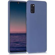 Силиконов калъф / гръб / TPU за Samsung Galaxy A41 - тъмно син / мат