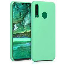 Луксозен силиконов гръб Silicone Case за Huawei P30 Lite - зелен