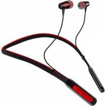 Стерео Bluetooth / Wireless Neckband слушалки FB800 /sport/ - черни с червено