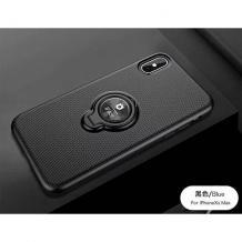 Силиконов калъф / гръб / TPU iFace Hamee Magnetic Finger Ring Car Holder за Xiaomi Mi 9T - черен