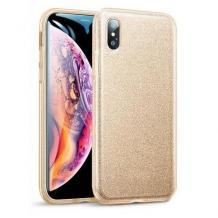 Силиконов калъф / гръб / TPU за Xiaomi Redmi 7A - златист / брокат