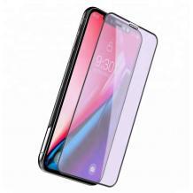 5D Full Cover Nano Anti-Shock Glass Screen Protector Apple iPhone X / iPhone XS / 5D извит скрийн протектор за Apple iPhone X / iPhone XS - черен