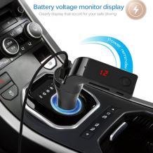 MP3 FM Bluetooth Тransmiter 9-Eleven 1USB / FM Bluetooth трансмитер за кола - черен