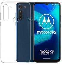 Ултра тънък силиконов калъф / гръб / TPU Ultra Thin за Motorola Moto G8 Power Lite - прозрачен