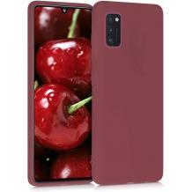 Силиконов калъф / гръб / TPU за Samsung Galaxy A41 - бордо / мат