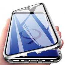 Магнитен калъф Bumper Case 360° FULL за Samsung Galaxy A10/M10 - прозрачен / сребриста рамка