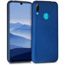 Силиконов калъф / гръб / TPU за Huawei P40 Lite E - син / мат