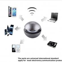 Bluetooth тонколона Led Ball / Bluetooth Led Ball Speaker - сива / топка