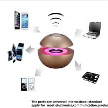 Bluetooth тонколона Led Ball / Bluetooth Led Ball Speaker - златиста / топка