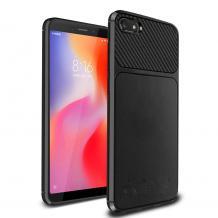 Силиконов калъф / гръб / TPU Hybrid за Xiaomi RedMi 6A - черен / Ferilinso Carbon