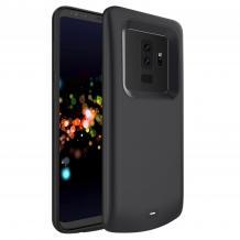 Луксозен твърд гръб / външна батерия / Battery Power Bank XDL184 за Samsung Galaxy S9 G960 - черен / 4700mAh
