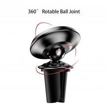 Магнитна универсална стойка за кола USAMS 360° въртяща се - черна със сребристо