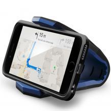 Универсална стойка за кола Aligator Clip Car Mount за Samsung, Apple, Huawei, Lenovo, LG, HTC, Sony, Nokia, Xiaomi - синя