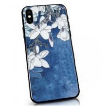 Твърд гръб със силиконов кант за Huawei P40 lite - син / Orchid