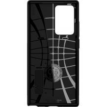 Оригинален гръб Spigen Slim Armor със стойка за Samsung Galaxy Note 20 Ultra - черен