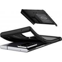 Оригинален гръб Spigen Slim Armor със стойка за Samsung Galaxy Note 20 - черен