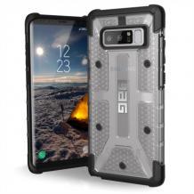 Оригинален Удароустойчив гръб UAG Urban Armor Gear Plasma Series за Samsung Galaxy Note 8 - прозрачен / черен кант