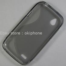 Сликонов калъф ТПУ S-Line за HTC Desire V - сив