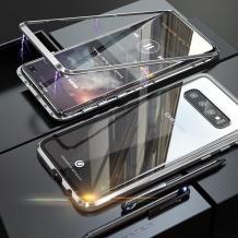 Магнитен калъф Bumper Case 360° FULL за Samsung Galaxy S10 Lite / S10e - прозрачен / сребриста рамка